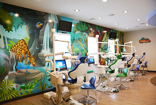 Open Bay Mural - Pediatric Dentist in Grand Prairie, TX
